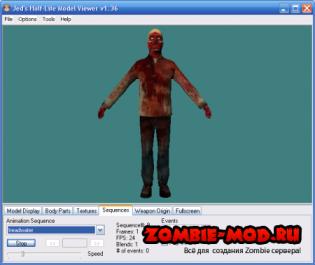 Models Pack HL2 Zombie anim