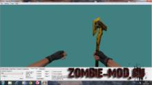 Combat axe gold